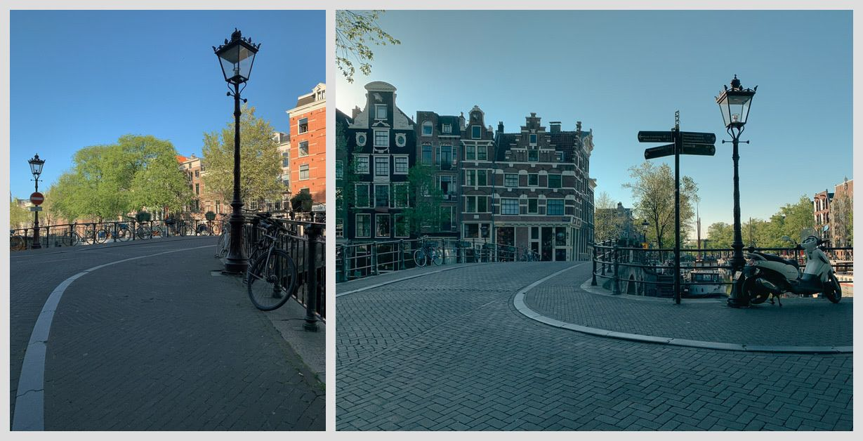 Empty streets on the eve of King's Day 2020