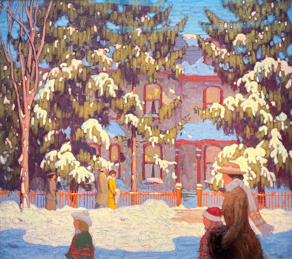 Lawren S. Harris: Winter Afternoon, City Street, Toronto, aka 'Sunday Morning'