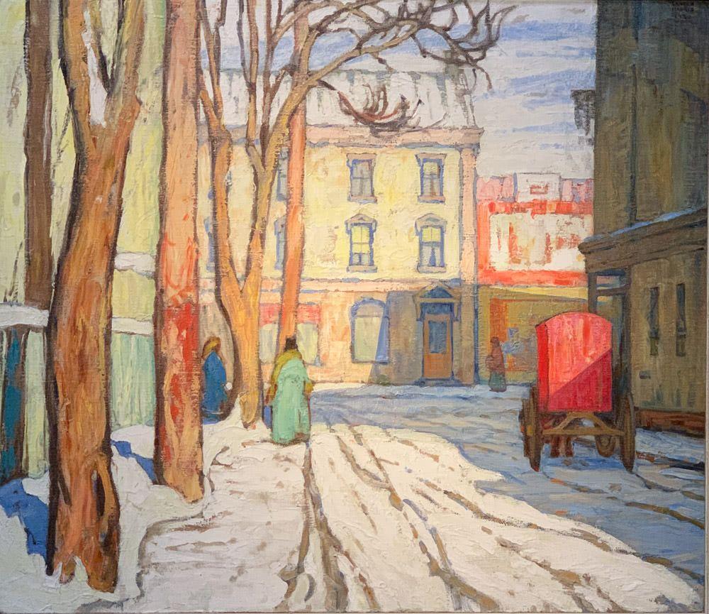 Lawren S. Harris: Toronto Street, Winter Morning