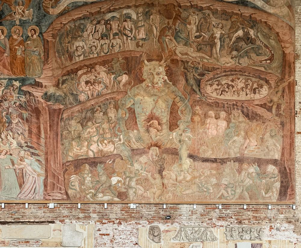 A Mural depicting hell