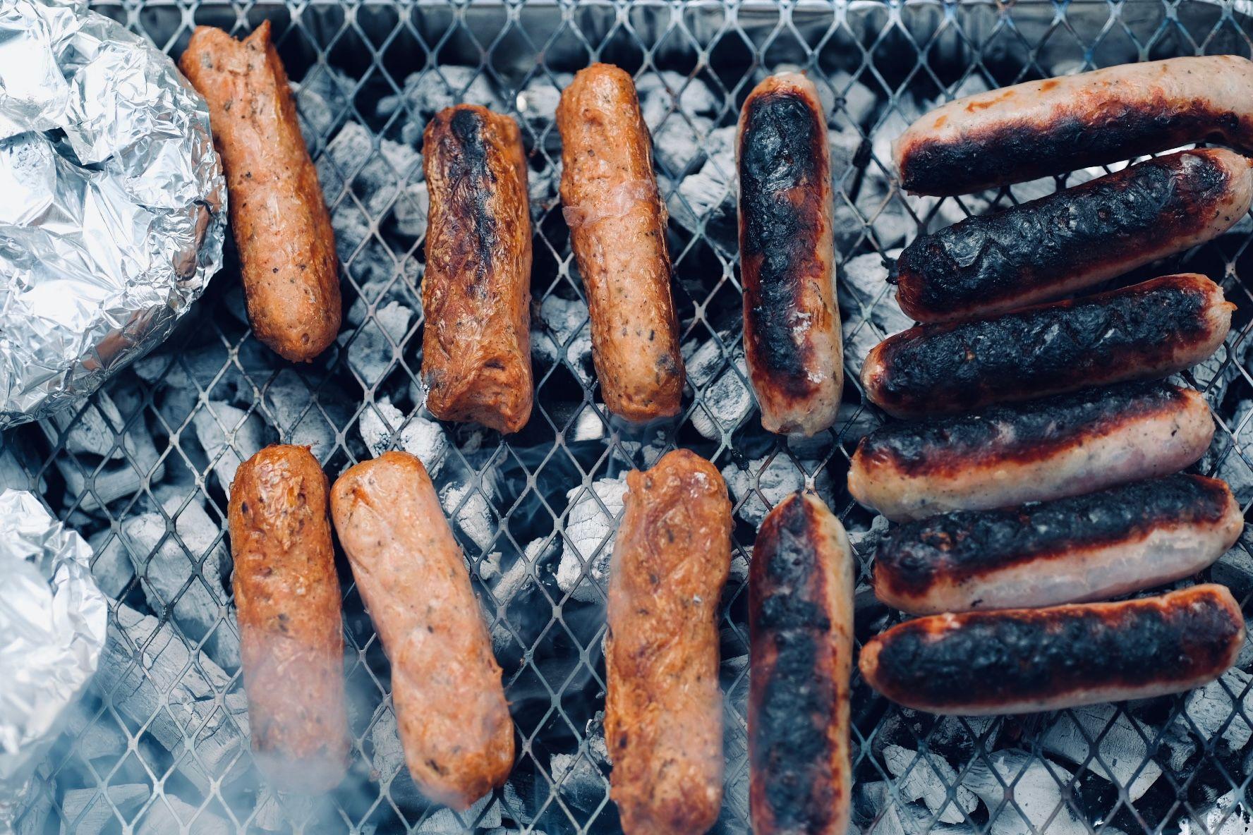 veggie sausages too