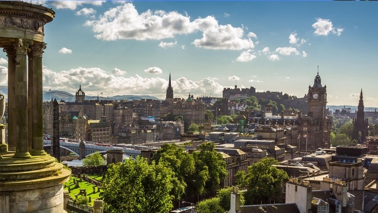 Edinburgh's Skyline from Calton Hill by Artbees on Flickr.