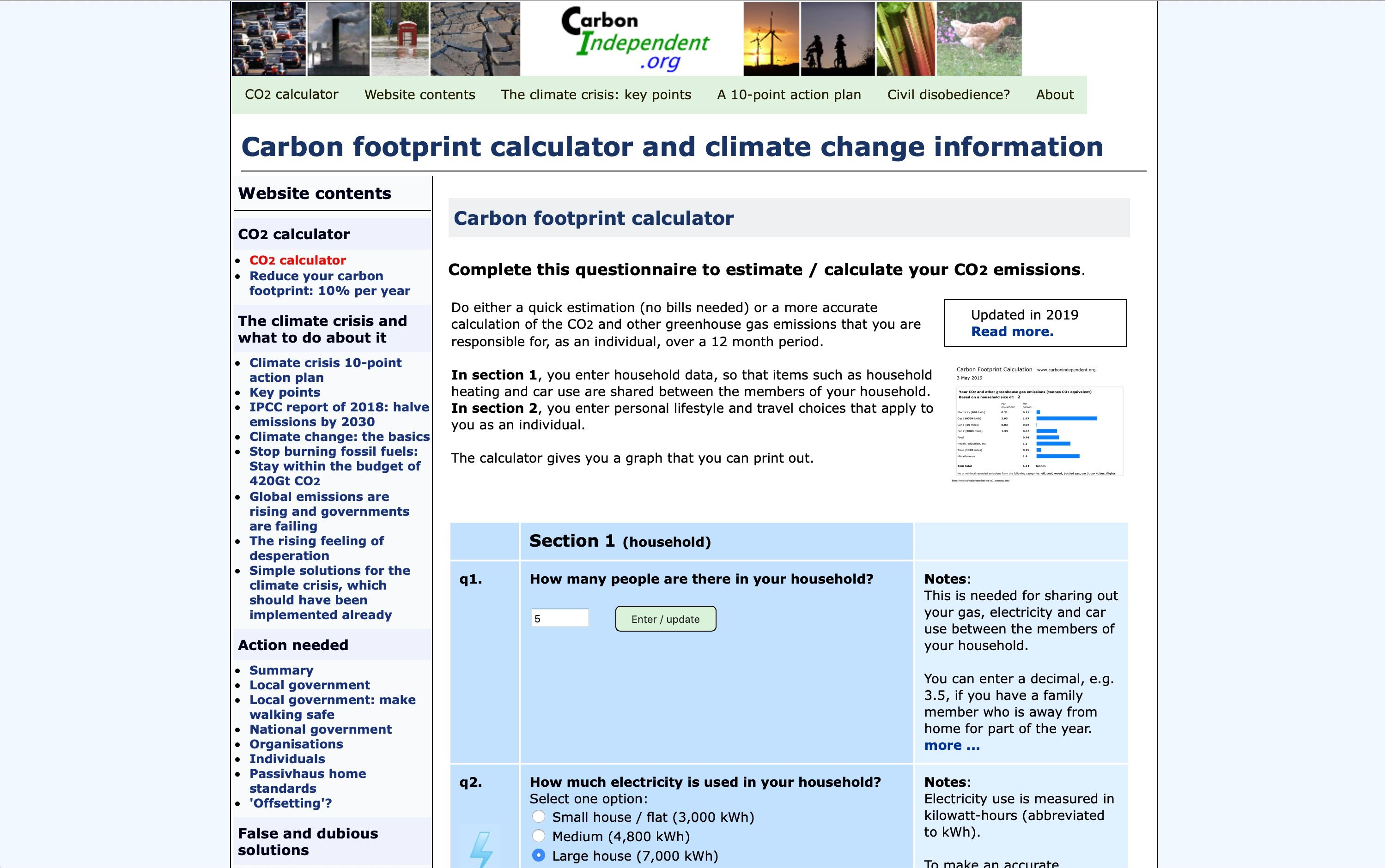 Carbon Independent calculator FB