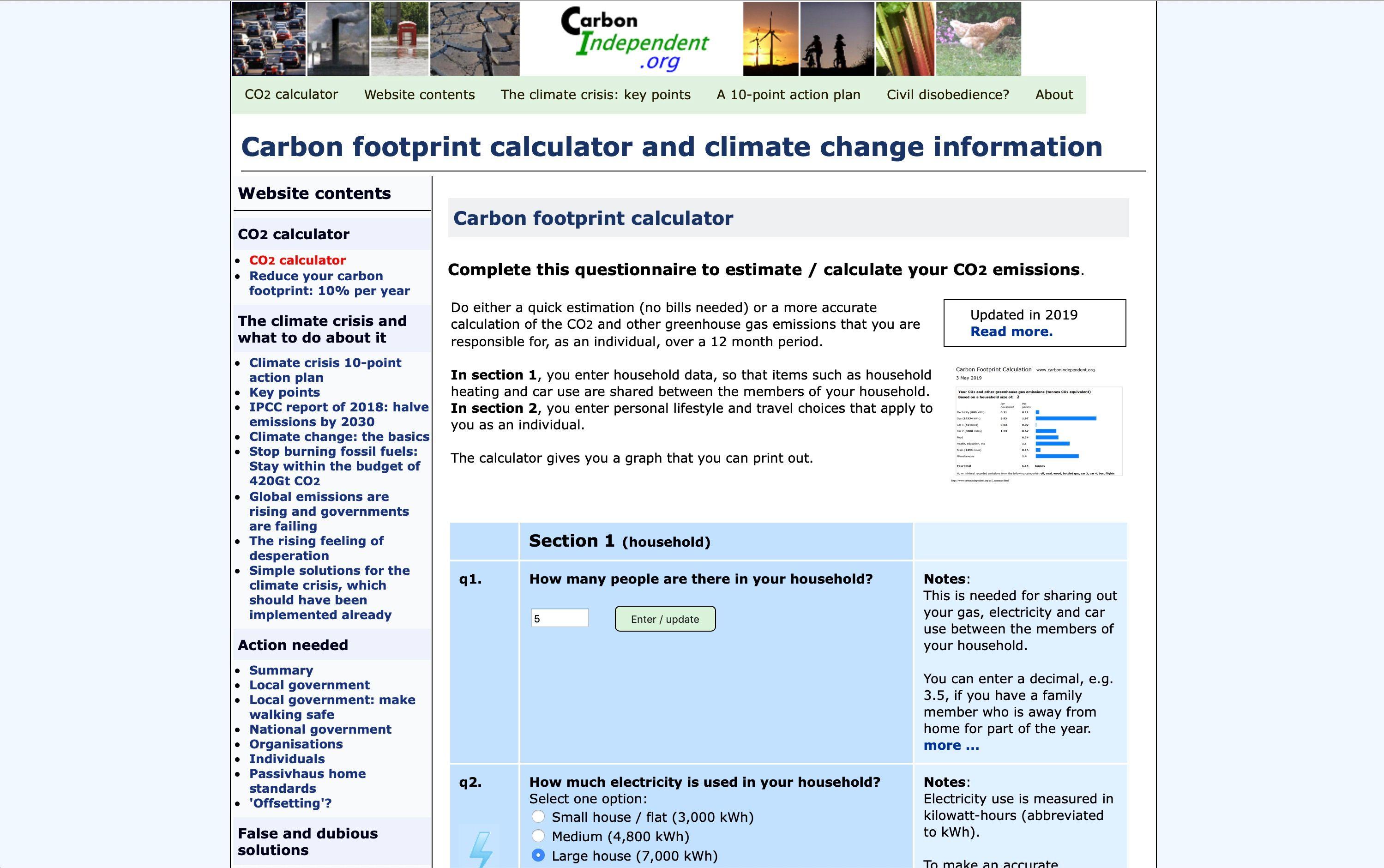 Carbon Independent calculator FB