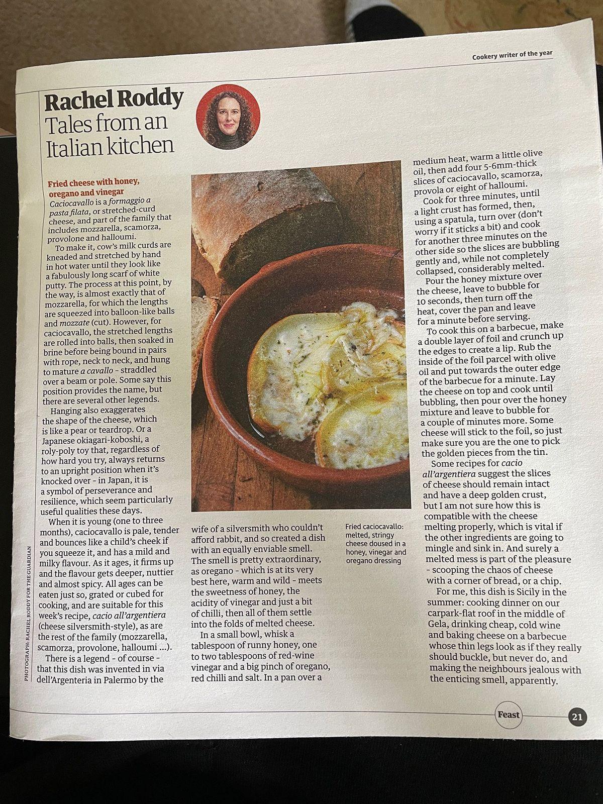 Original recipe in the Guardian