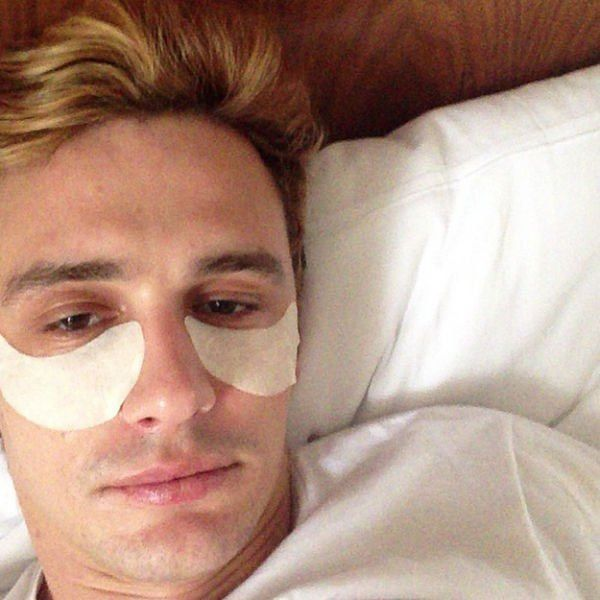 James Franco taking care of his skin