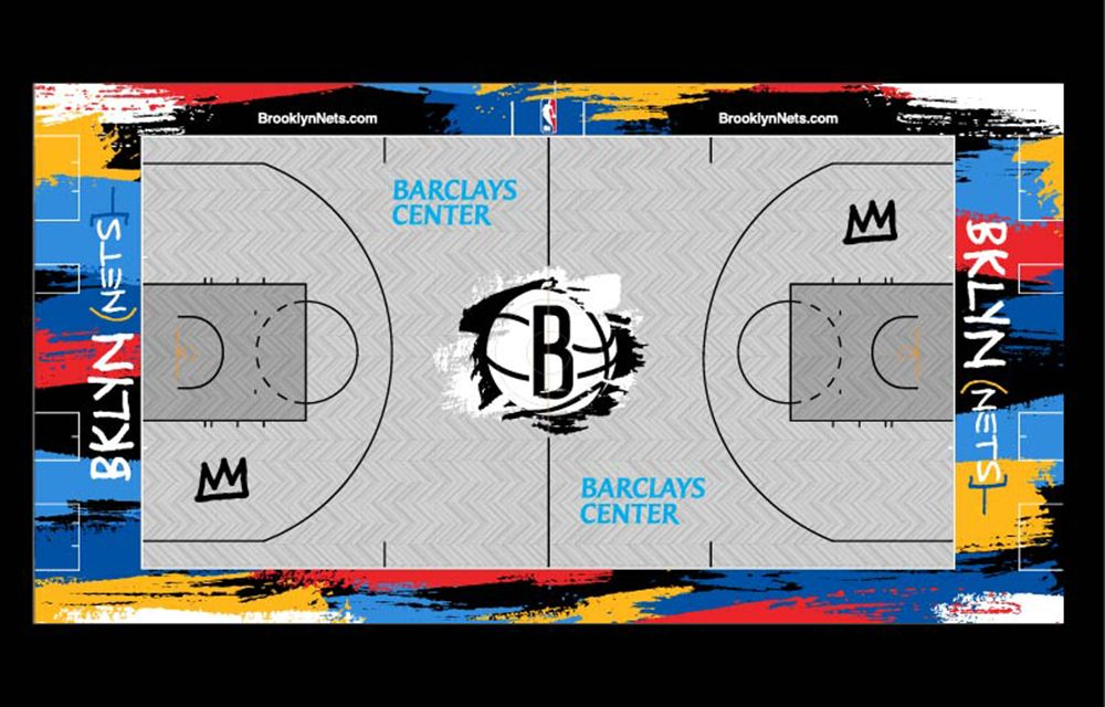 The Brooklyn Nets 2020-2021 City Edition Court