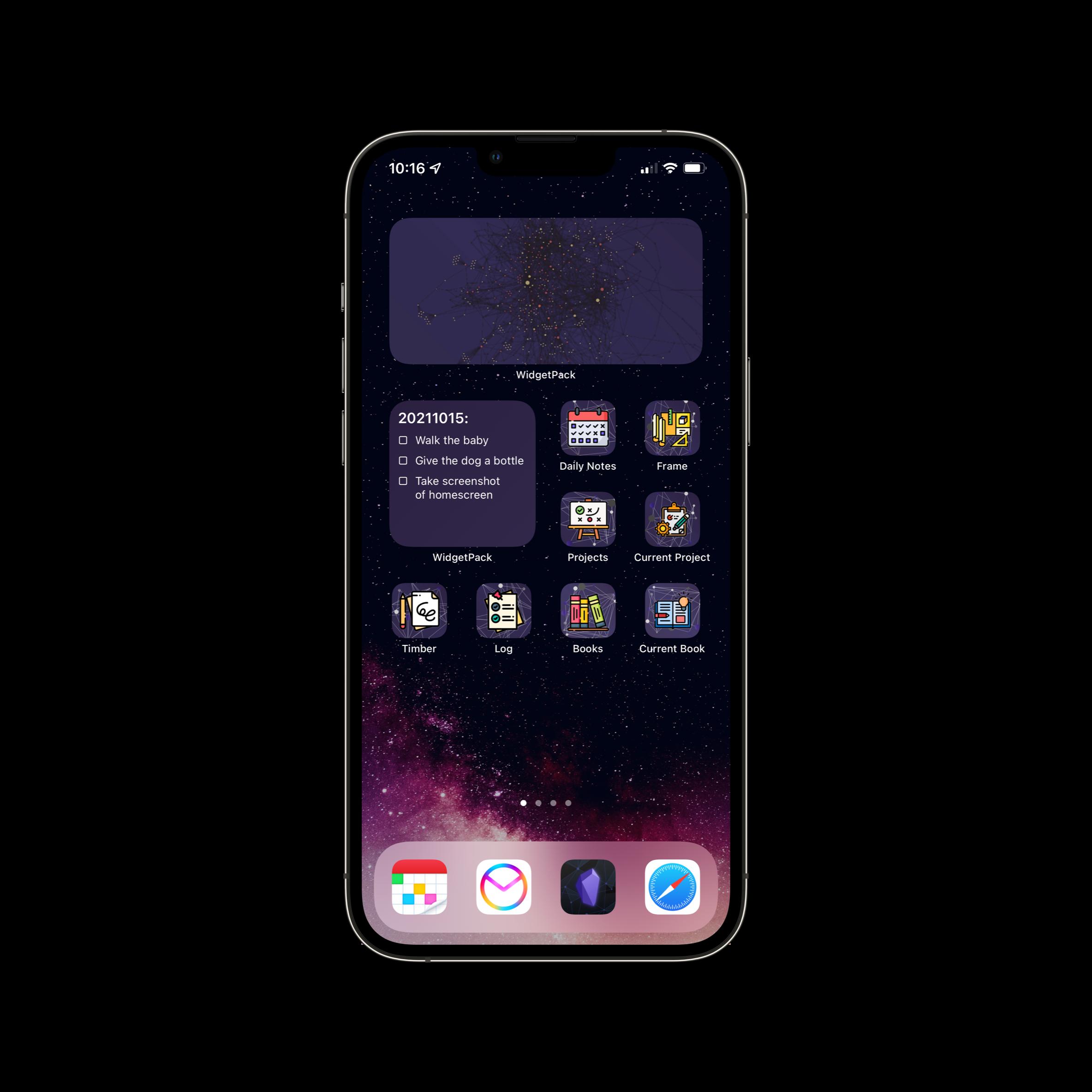A screenshot of the homescreen.