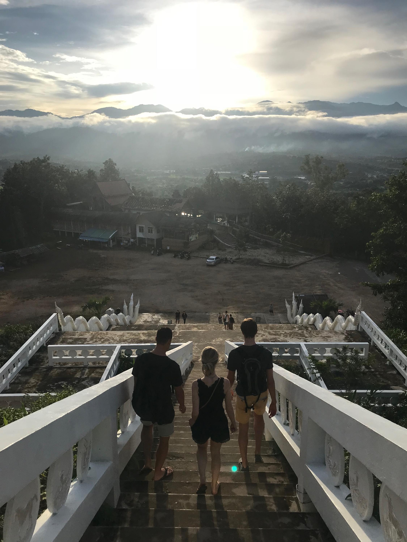 White Buddha steps