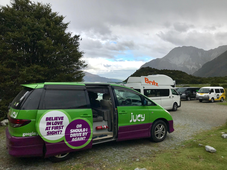 JUCY camper minivan