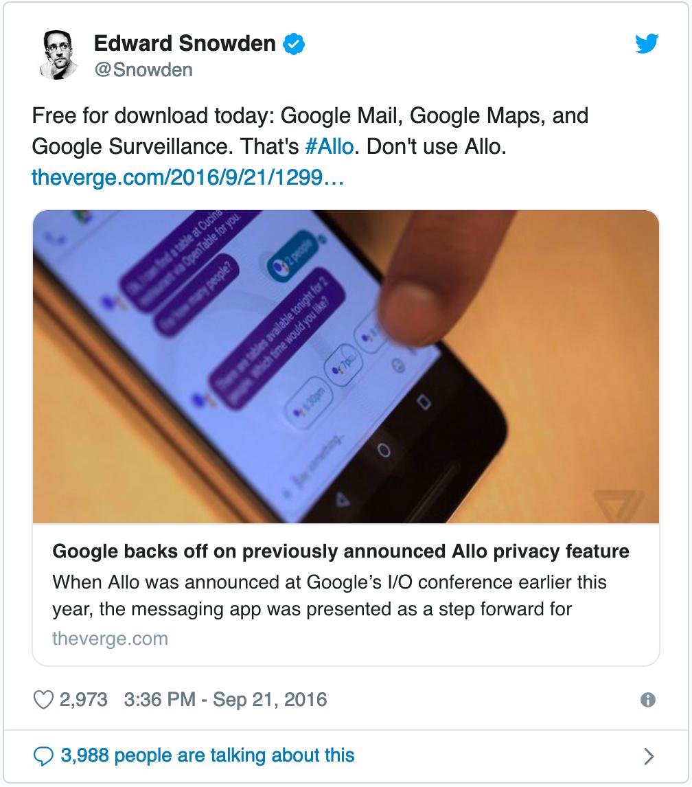 Descárgalas gratis hoy: Google Mail, Google Maps y Google Espía. Eso es #Allo. No uses Allo
