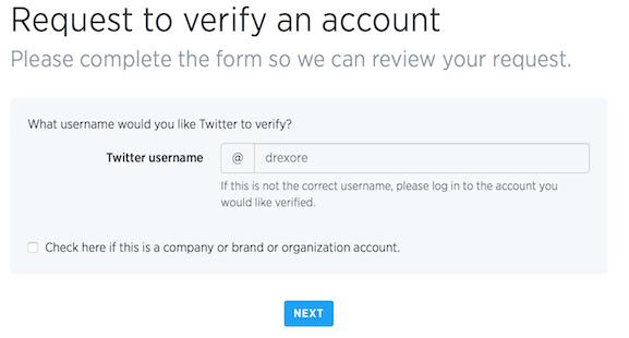Specify account to verify