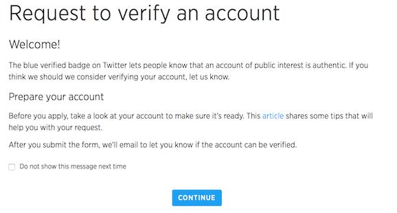 Start verification process