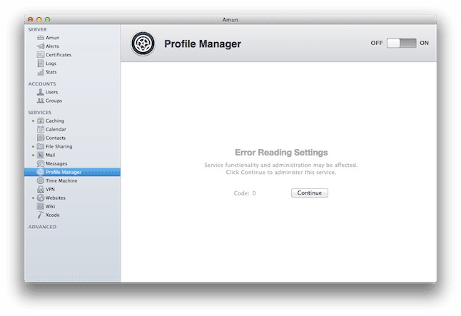 OS X Server - Profile Manager