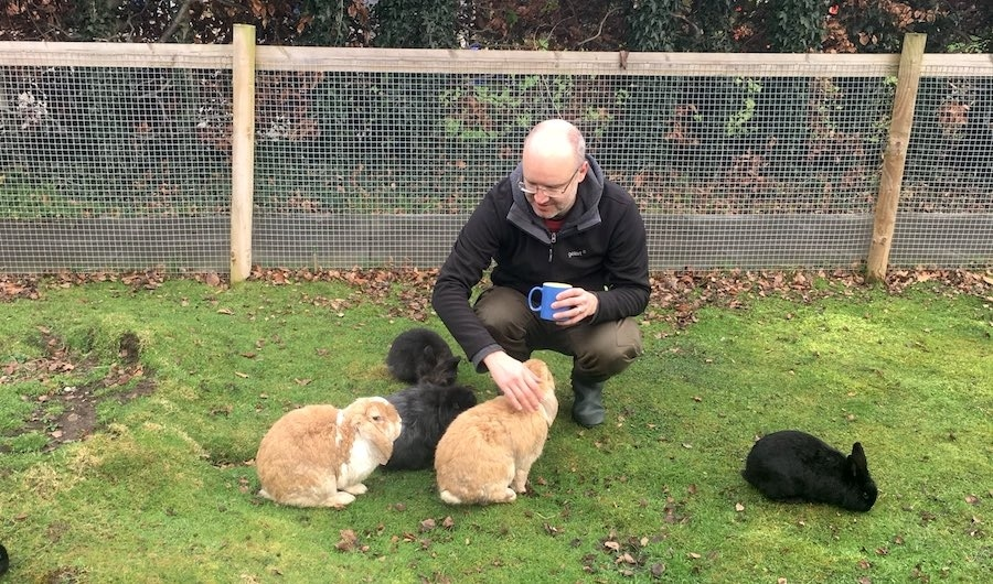 Tea break with the Fat Fluffs residents.