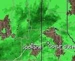 doppler radar of Spokane vicinity