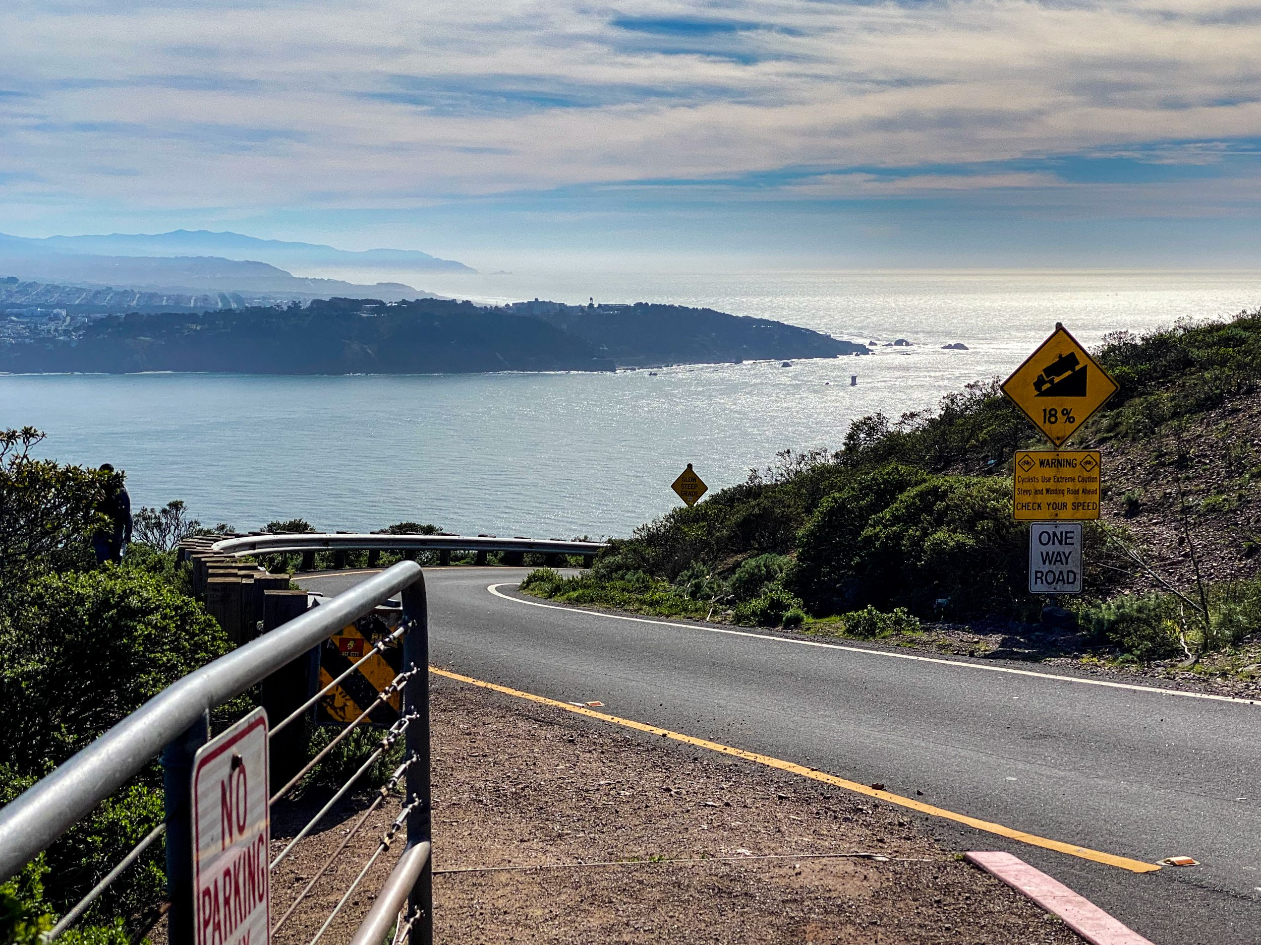 Climbing up to Hawk Hill