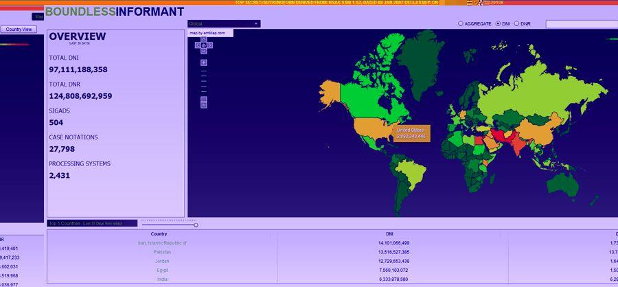 Boundless Informant Heat Map