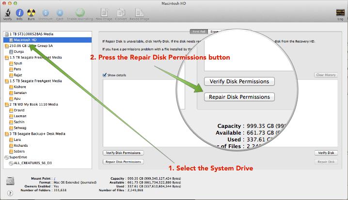 Disk Utility Repairing Permissions