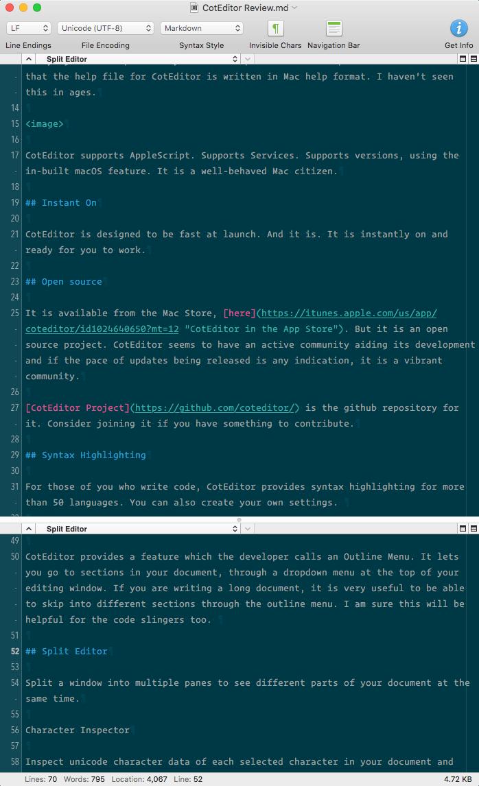 CotEditor Split Editor