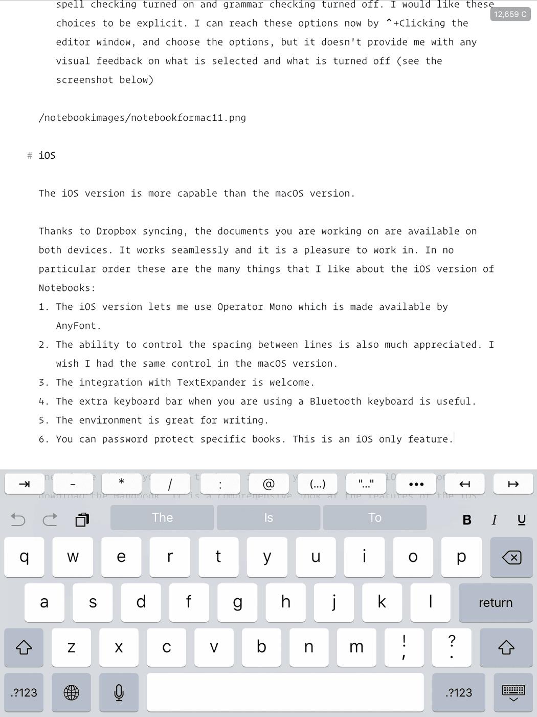 Notebooks iOS Version