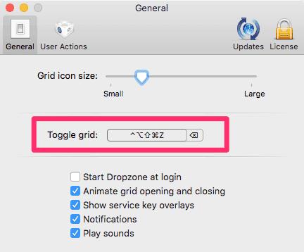 Dropzone 3 Toggle Grid