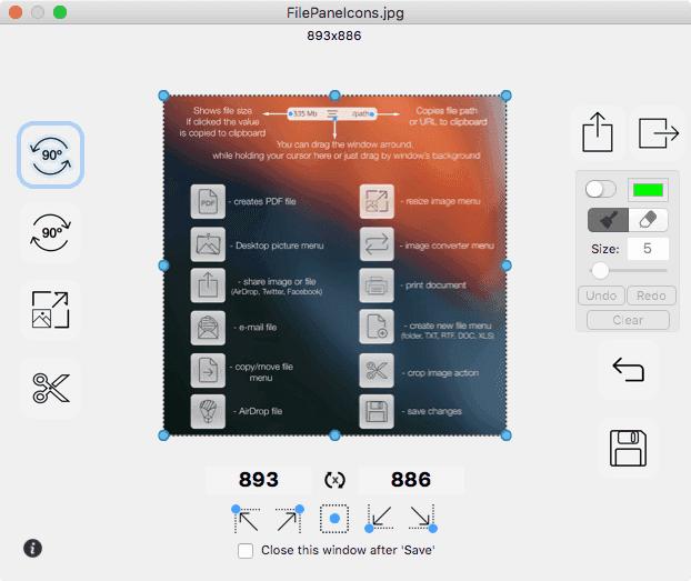 FilePane Image Resize/Crop