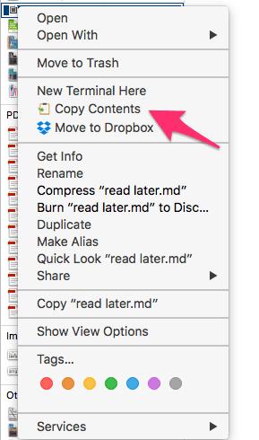 Copy Contents