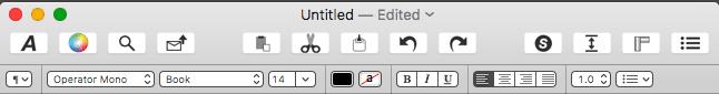 Mach Write toolbar