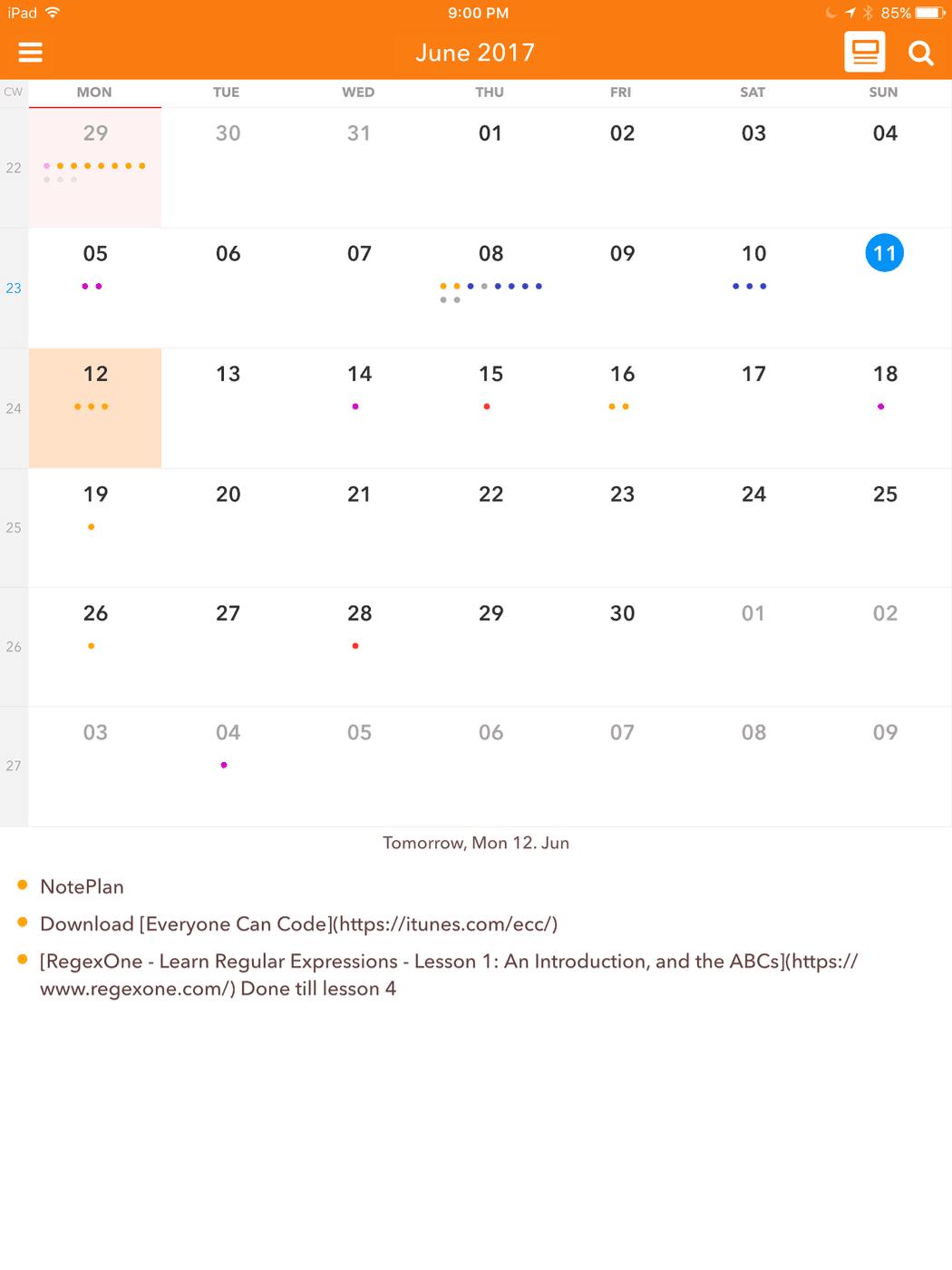 Alternate Calendar View