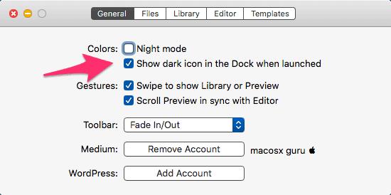 iA Writer Dark Icon