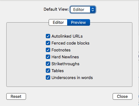 Markdown Preview Settings