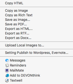 MWeb Export