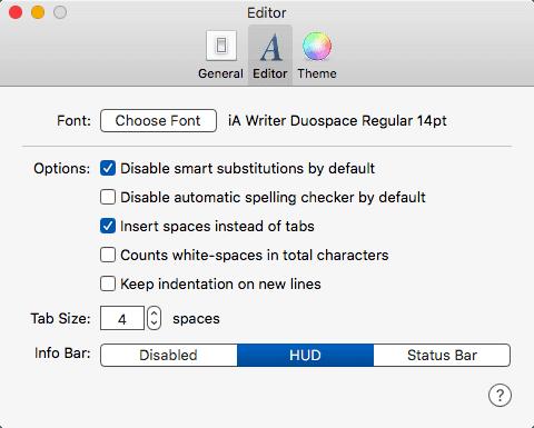 Editor Preferences