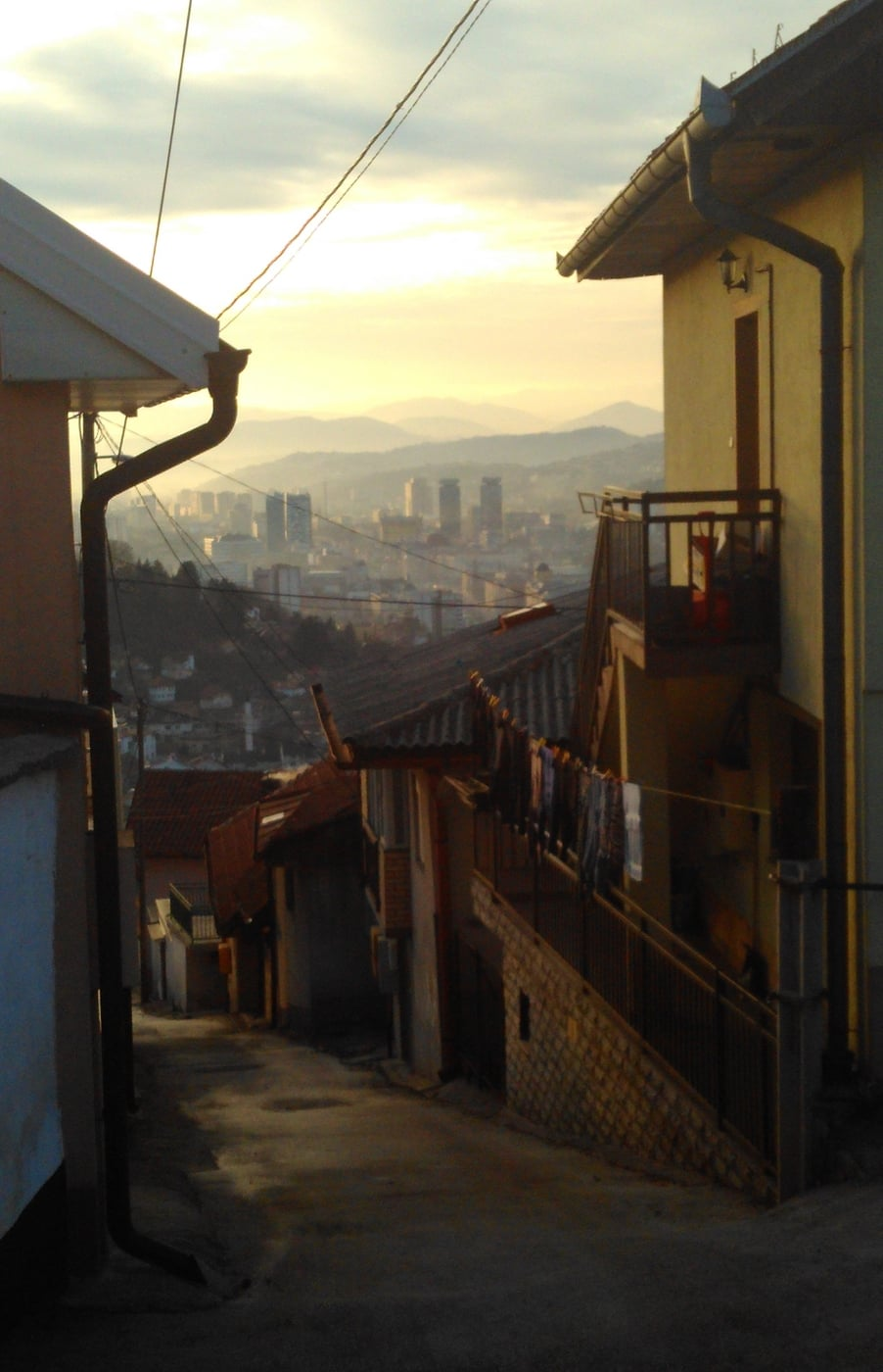 The walk to school in Sarajevo