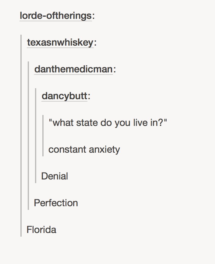 Not perfection, nor Florida