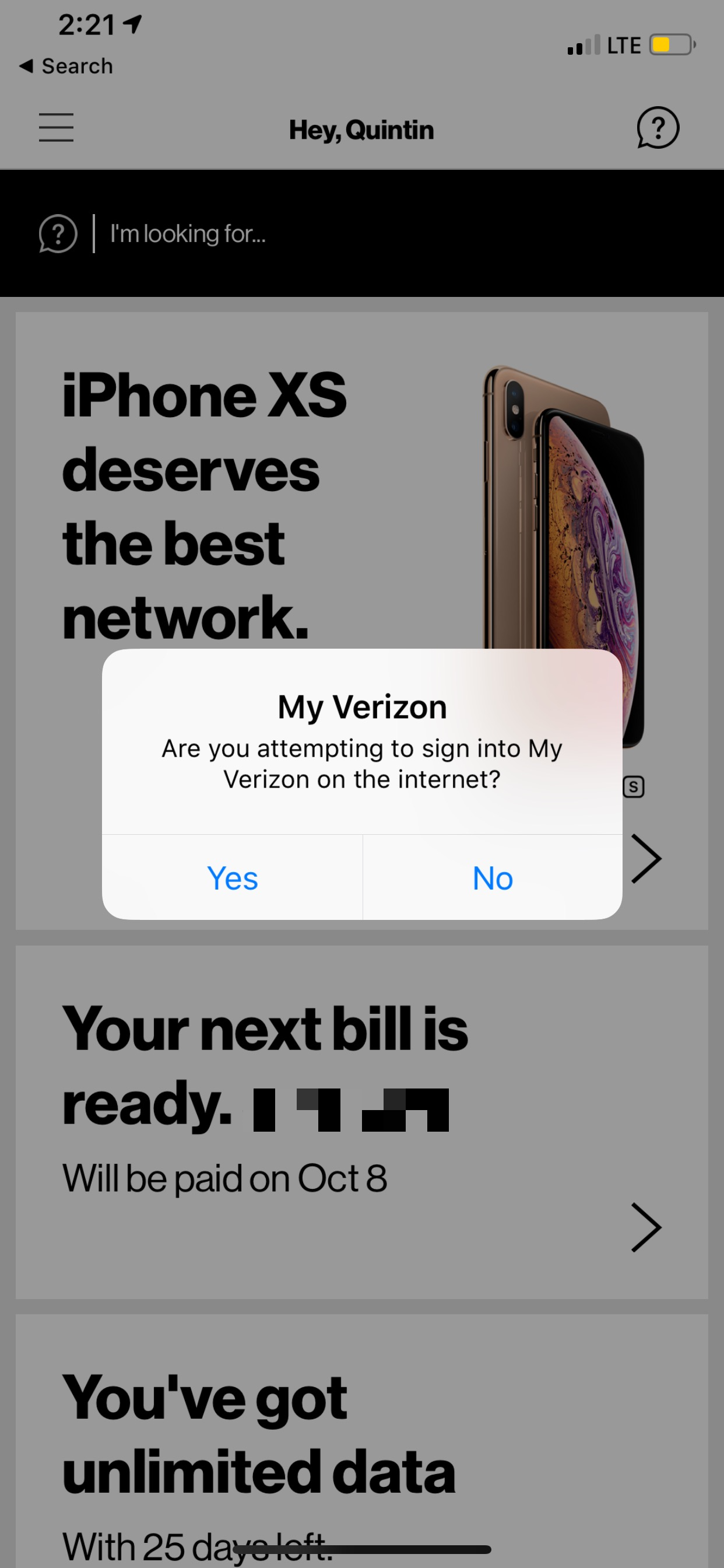 Swipe the notification and wait for the dialog in-app. Look at that lovely indeterminate progress spinner and super unclear instructions. So well designed.