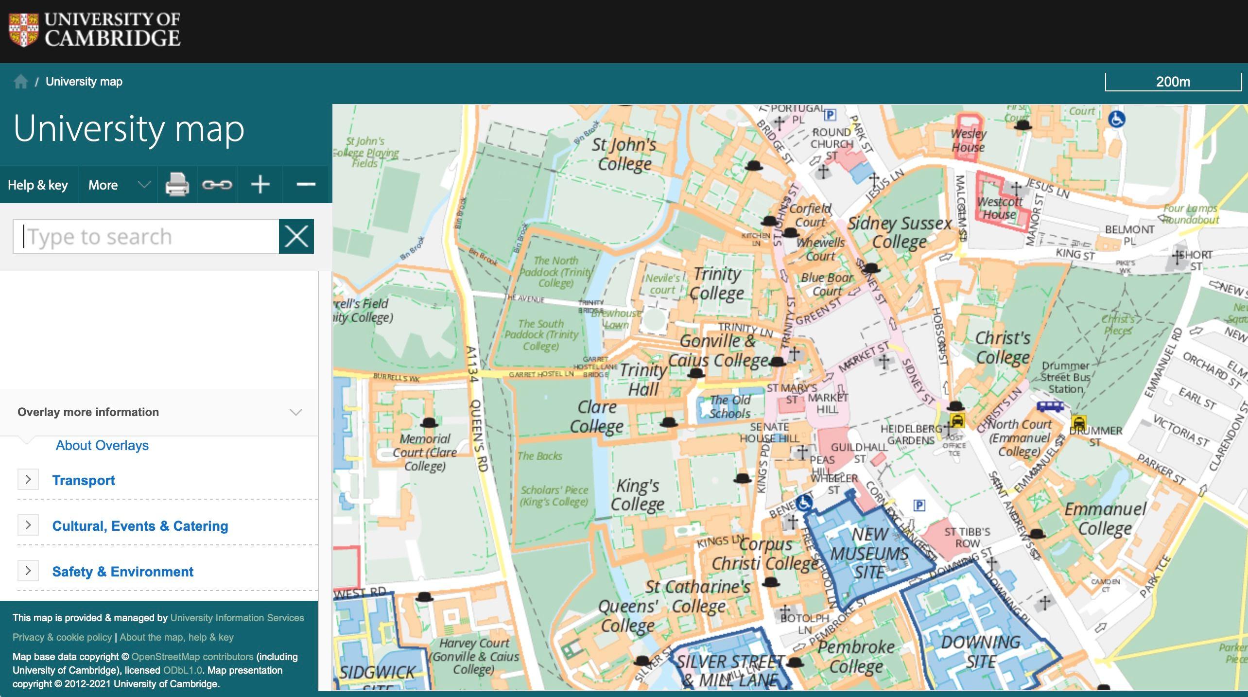 university of cambridge (web only)