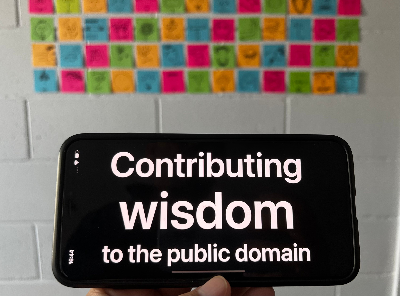 Contributing wisdom to the public domain