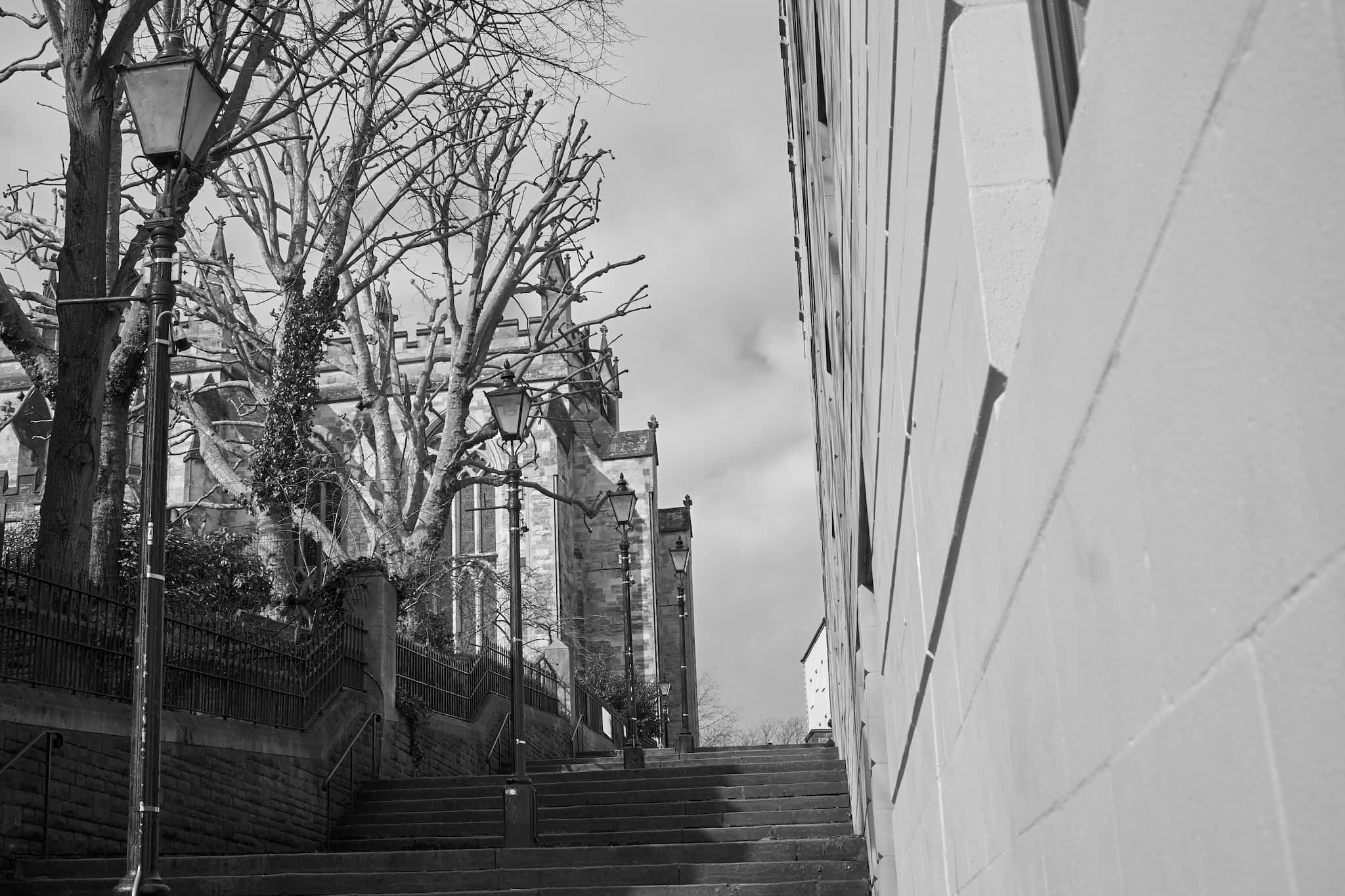 steps by bristol cathedral