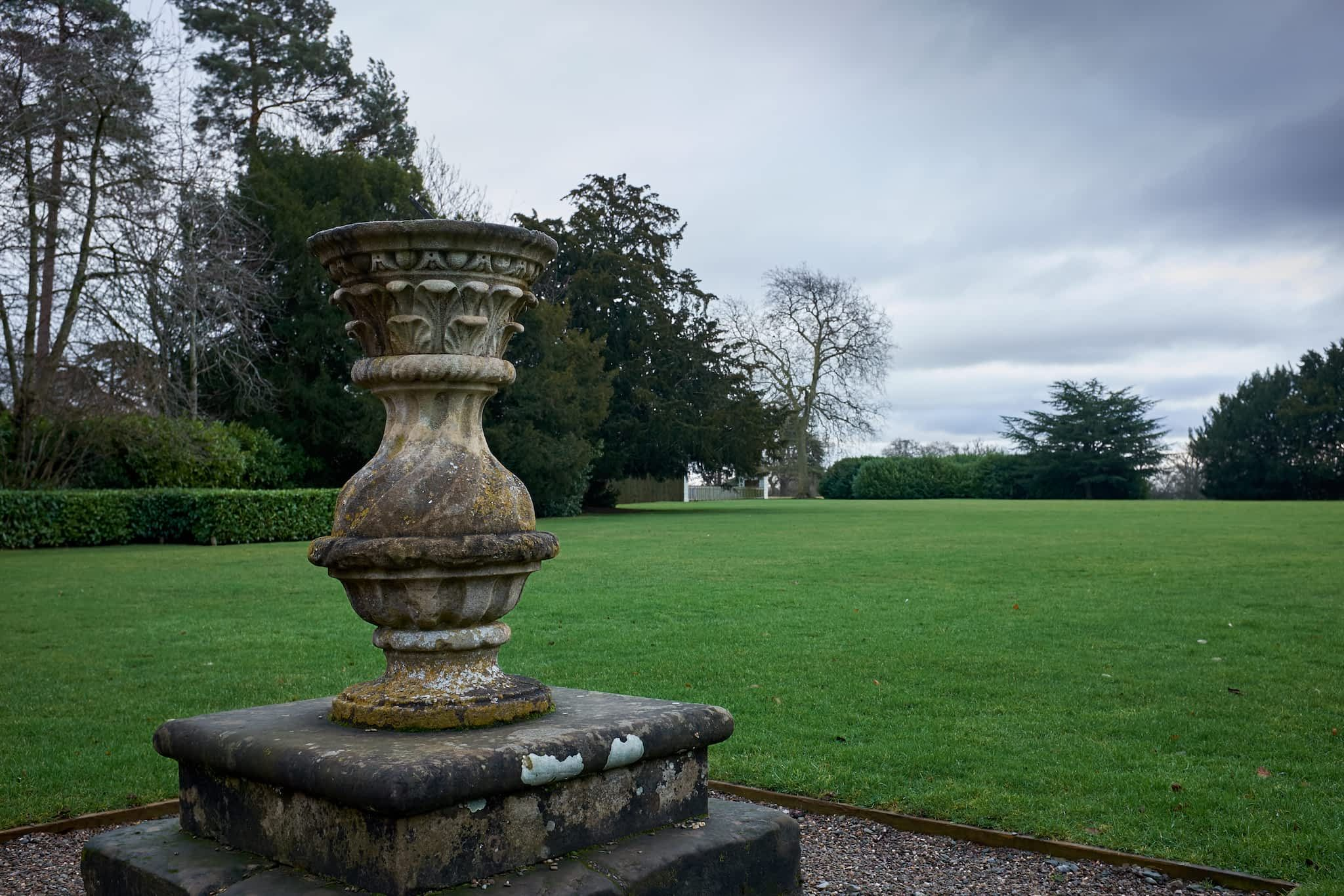 lawn in front of the orangery