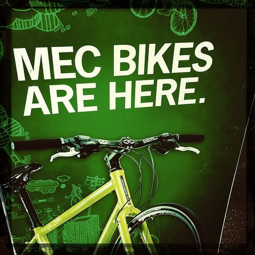 MEC Bike Sign