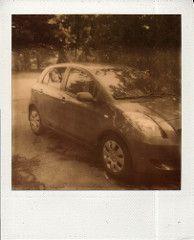 Yaris in Driveway