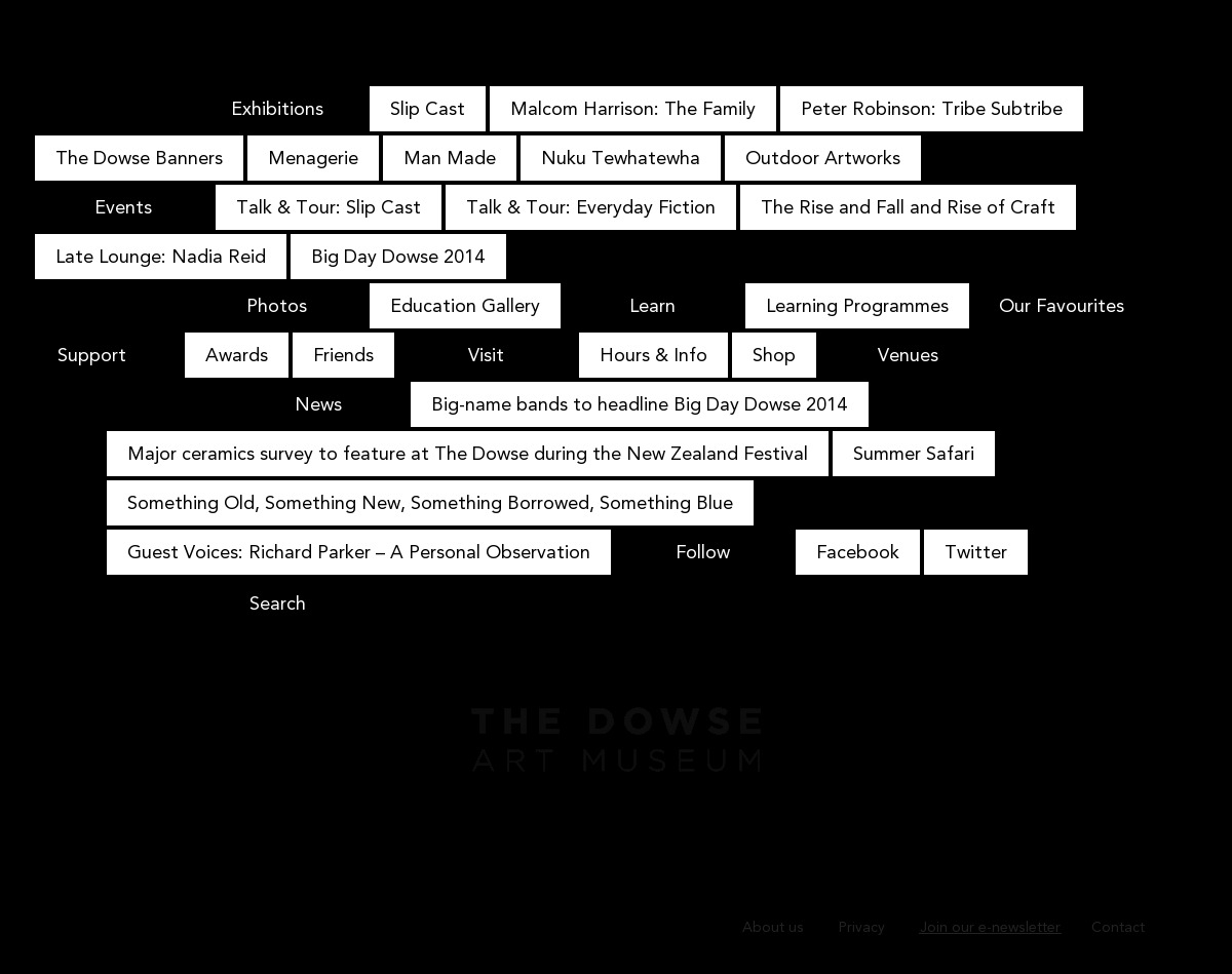 [web] [design] [type] The Dowse Art Museum | The Dowse Art Museum