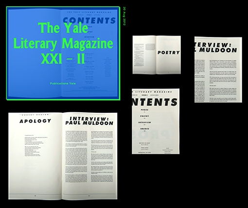 yale literary [design] [editorial]