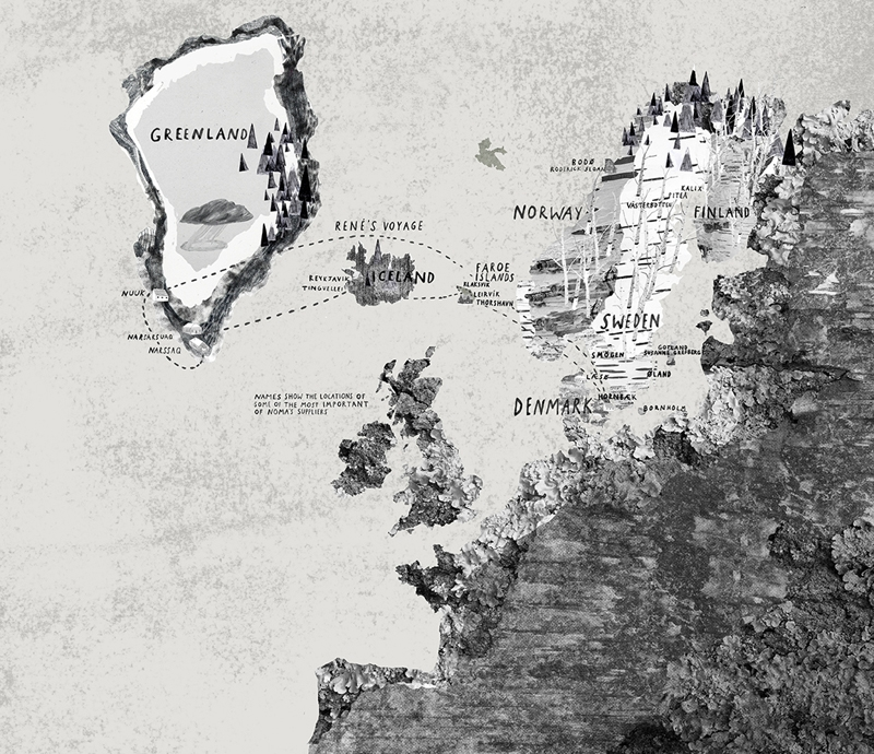 [map] [illustration] Hannah Warren's Nordic Map Is As Striking As It Is Beautiful - The Fox Is Black