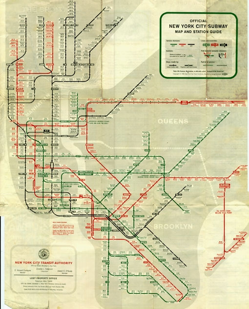 [map] [subway] [new york] Design Work Life » cataloging inspiration daily (1)