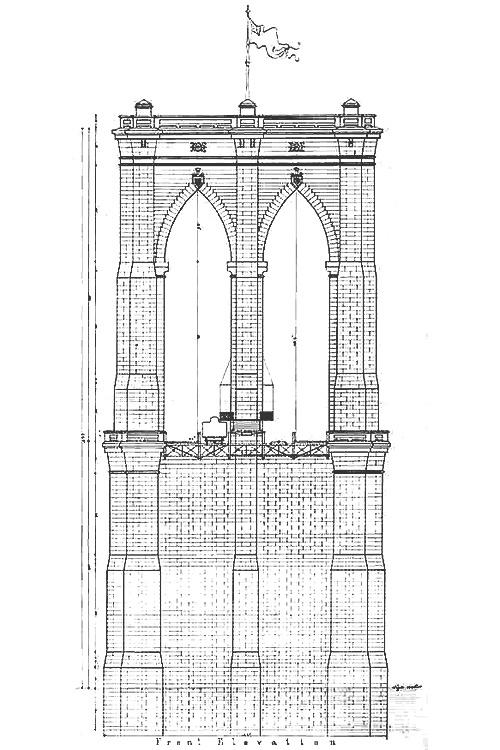 [sketch] [new york] brooklyn bridge 357,000 Kilometers to the Moon