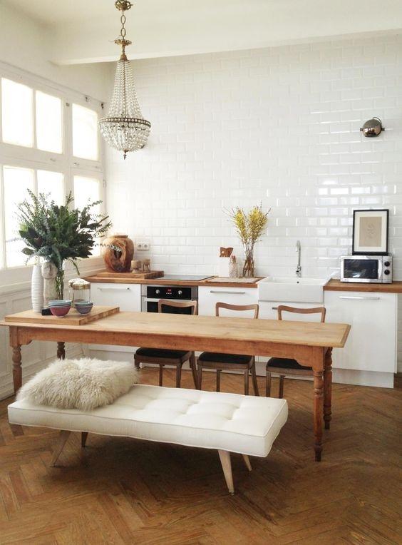 [kitchen] [white] weird couch