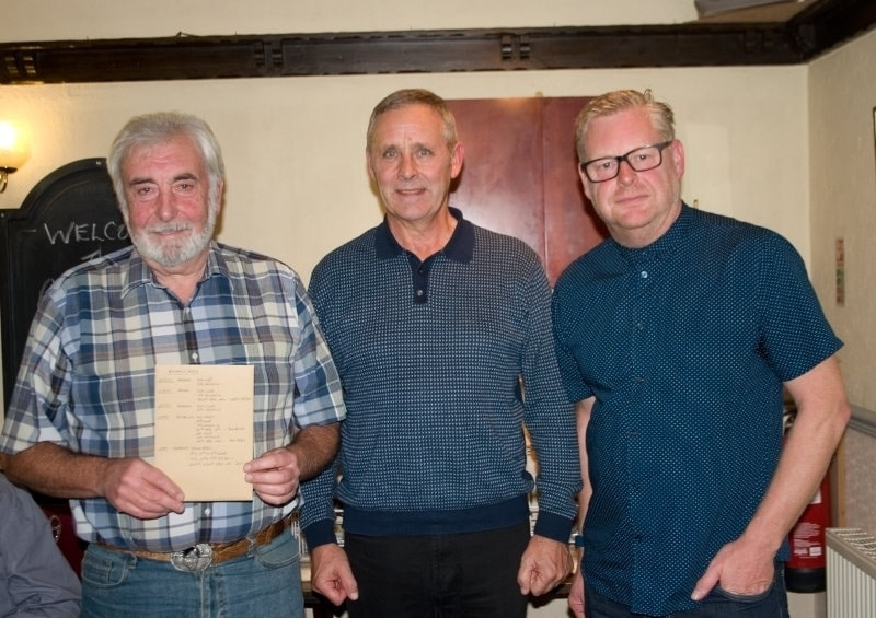 Dave McSween & Jim Sexton with Nick Adshead - They were 2nd highest prize winners in 2017